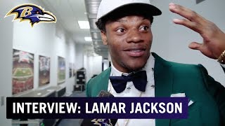 "Ravens First-Round Pick Lamar Jackson, ""We're Gonna Get a Lot of Wins. I'm Coming."" 