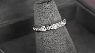 Женское обручальное кольцо из белого золота