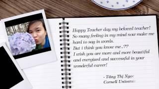 Happy Teacher's Day - Chúc mừng ngày nhà giáo Việt Nam 20/11 - A. Prof. Ly Le