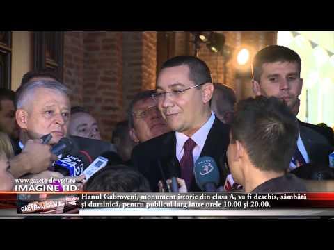 Victor Ponta a participat la inaugurarea Hanului Gabroveni cu ocazia Zilelor Bucureştiului, alături