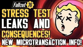 Fallout 76 - Stress Test Leaks: Severe Punishment of Leaking Gameplay! New Microtransaction Details!