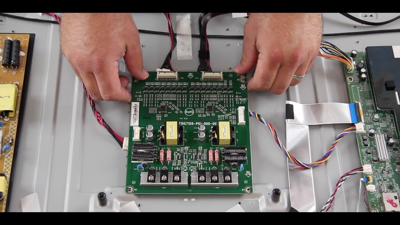 Vizio M50 C1 50 Led Tv Board Replacement Replace Main Schematic Tcon Or Power Supply Driver T Con