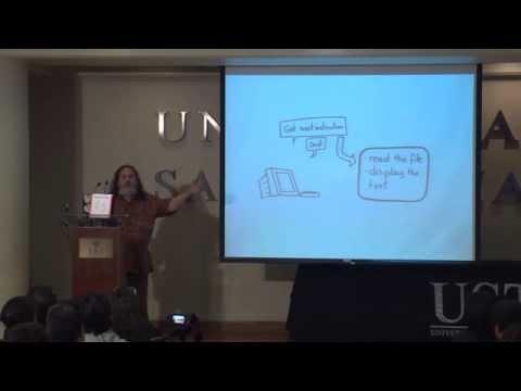 Richard Stallman en Chile,  por una sociedad digital libre.