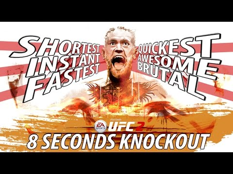 EA SPORTS UFC 2 - 8 SECONDS KNOCKOUT | Conor McGregor vs Chad Mendes Gameplay Fight