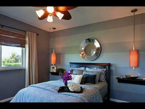 Grey With Accent Walls Bedrooms Ideas