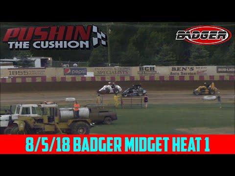 Angell Park Speedway - 8/5/18 - Badger Midgets - Heat 1