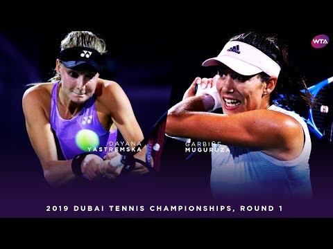 Garbiñe Muguruza vs. Dayana Yastremska | 2019 Dubai First Round | WTA Highlights