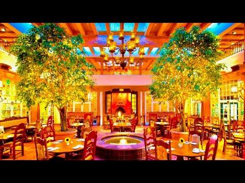 Dining At La Plazuela Restaurant at the La Fonda Hotel, Santa Fe, New Mexico