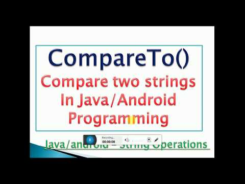 compareTo() Method in java/android with example- [Compare two Strings]