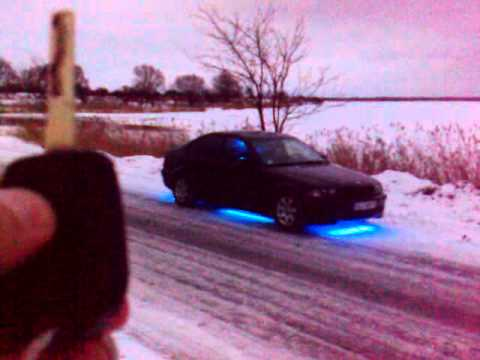 Bmw E46 1998 Sedan Blue Led Neon Youtube