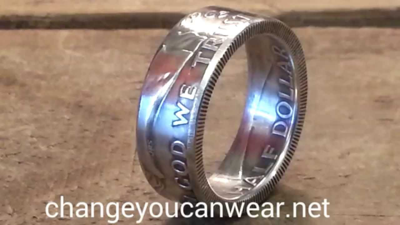 Franklin half dollar coin ring