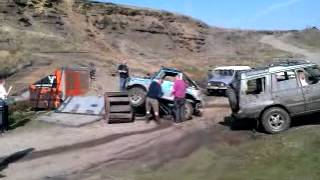 4x4 Being Turned Right Way Up @ Cowm Quarry