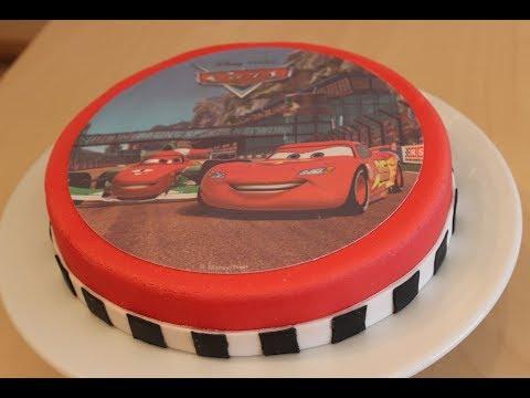 Geburtstagstorte Einfache Und Schnelle Cars Torte Mit Motivaufleger