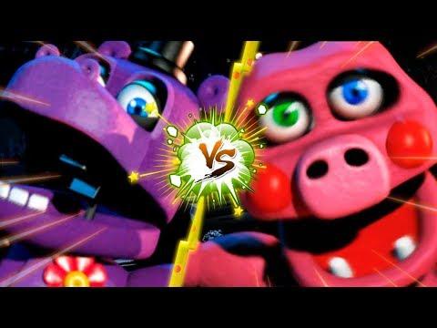 PIGPATCH VS MR HIPPO  La Liga de FNAF  FIVE NIGHTS AT FREDDY ULTIMATE CUSTOM NIGHT J3