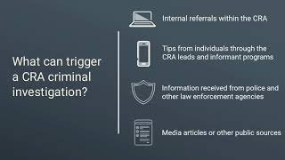 What can trigger a CRA criminal investigation?