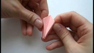 Оригами Тюльпан. Цветы из бумаги.(Как сделать тюльпаны из бумаги http://olyaruss.com/view_post.php?id=208., 2011-06-17T13:46:48.000Z)