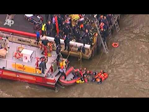 Raw Video: Chopper Down in NYC's East River