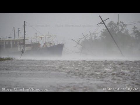 Hurricane Zeta Extreme Winds, Surge Eye, Golden Meadow LA  - 10/28/2020