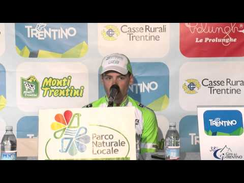 Giro del Trentino 2014: Edoardo Zardini's press conference after stage2