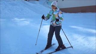 Обучение на лыжах.