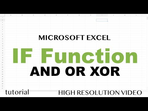 Excel - IF Function, Multiple Criteria With AND OR XOR Functions, Dates, Ranges - Tutorial