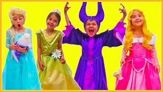 Playing Dress Up with Best Halloween Costumes for Kids | Rapunzel, Belle, Sofia, Elsa, Anna & More