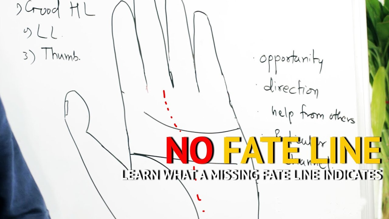 no fate line in hand palmistry palm reading [ 1280 x 720 Pixel ]