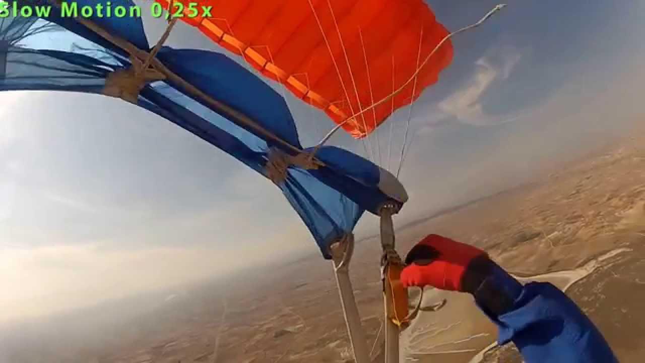 Ram-Air Canopy Unstowed Brake Malfunction & Ram-Air Canopy Unstowed Brake Malfunction - YouTube