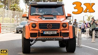 3x MERCEDES-BENZ G500 4x4^2 IN ONE DAY - OVERVIEW, driving and sound [2018 4K]