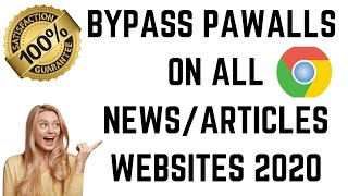 How To Get Ar๐und A Paywall | Read News Articles Free (Working 2020) | Bypass the Paid Subscriptions