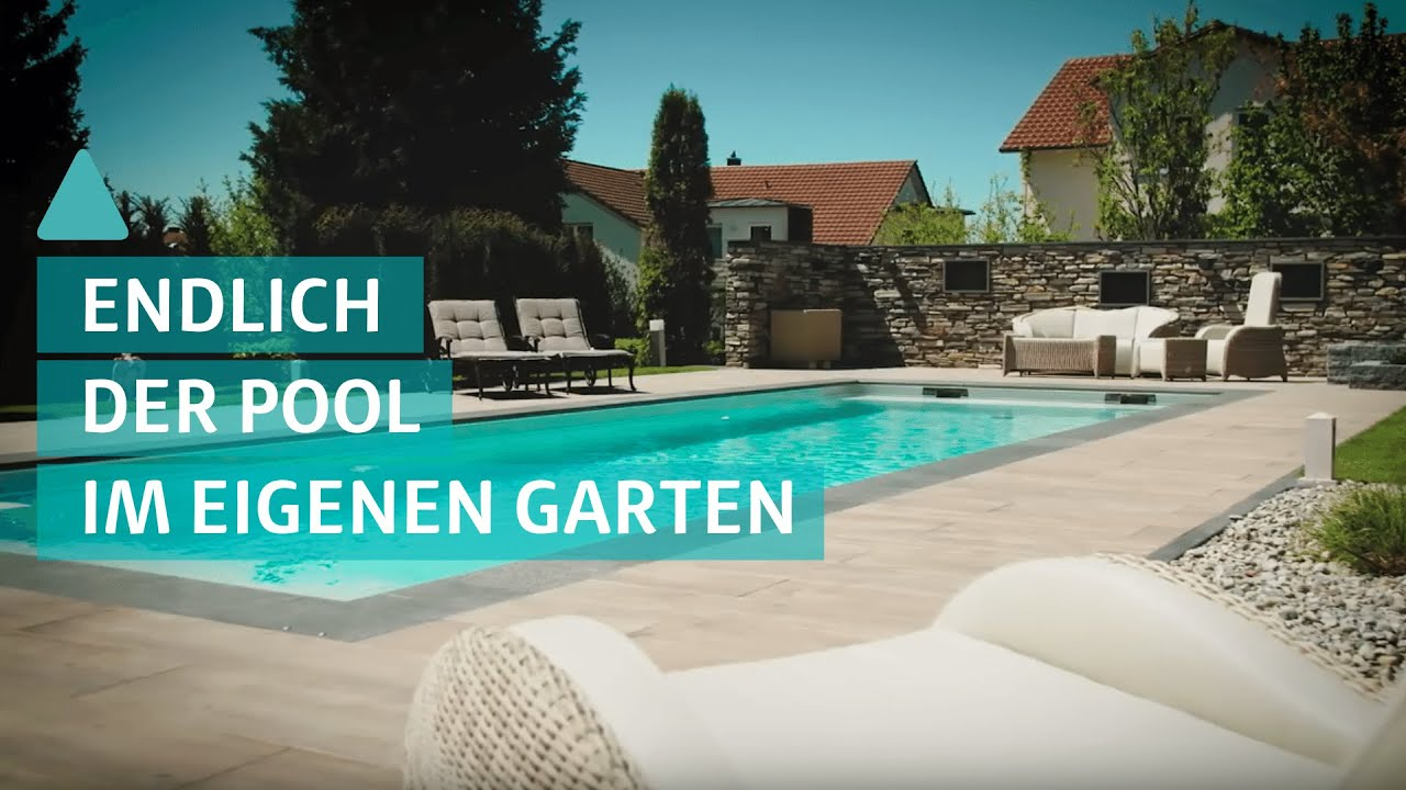 tipp der traum vom eigenen pool im garten youtube. Black Bedroom Furniture Sets. Home Design Ideas