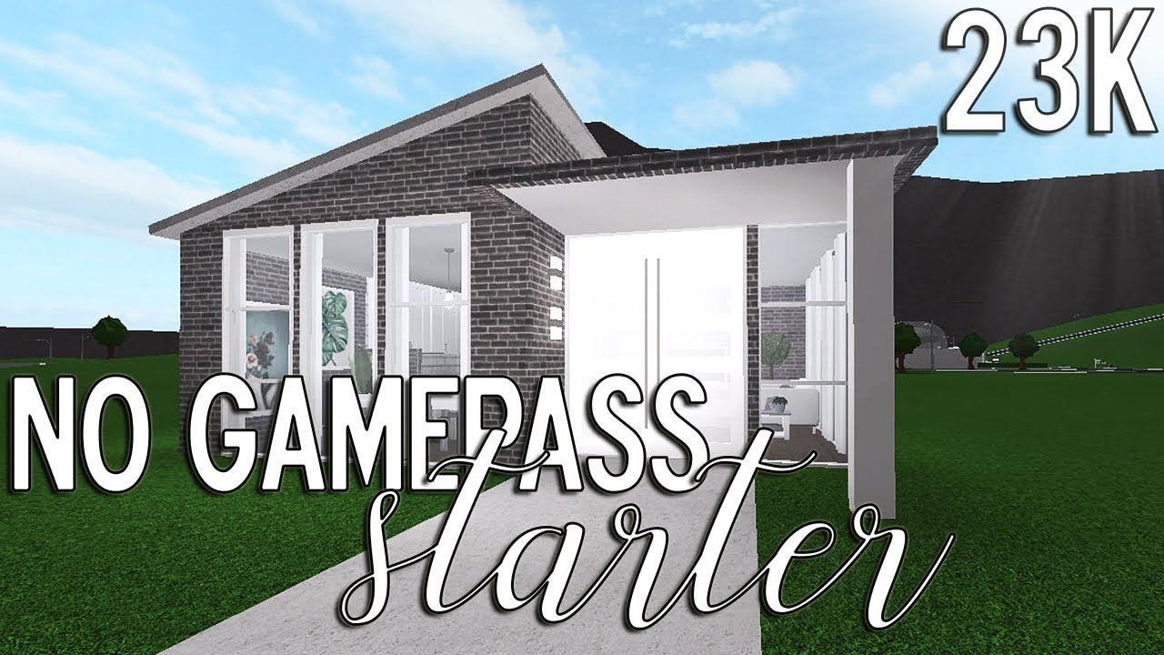 Roblox Welcome To Bloxburg No Gamepass Starter House