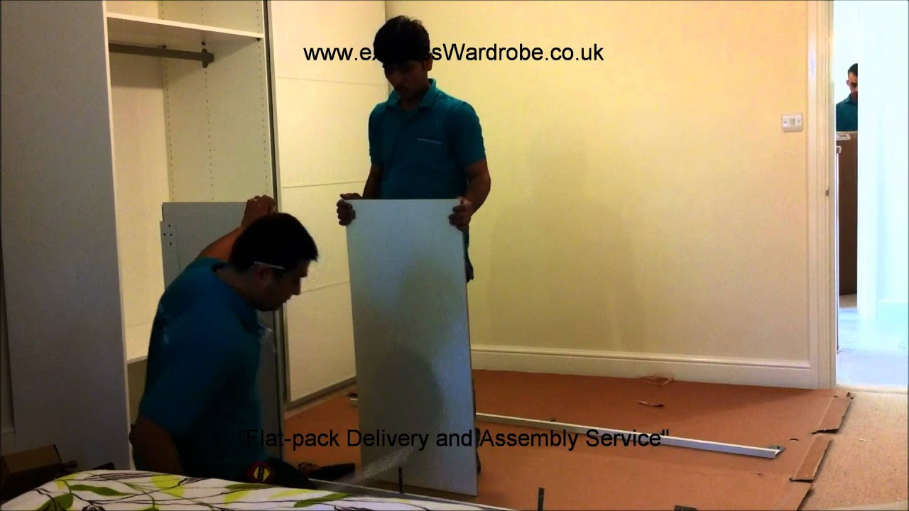 Assembling Ikea Pax Sliding Door Wardrobe Youtube