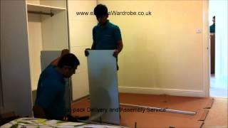 Assembling IKEA Pax Sliding Door Wardrobe
