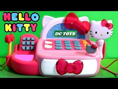 Hello Kitty Cash Register vs. Minnie Mouse Cash Register Caja Registradora Funtoys Disney Toy Review