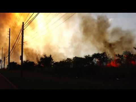 Huge Fire off PR-3 in Salinas, Puerto Rico