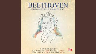 String Quartet No. 2 in G Major, Op. 18, No. 2: IV. Allegro molto, quasi presto