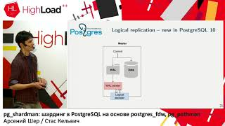 pg_shardman: шардинг в PostgreSQL / А.Шер, С.Кельвич (Postgres Professional)
