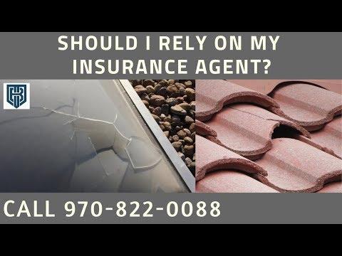 Roof Damage Insurance Claim Hail Evans CO