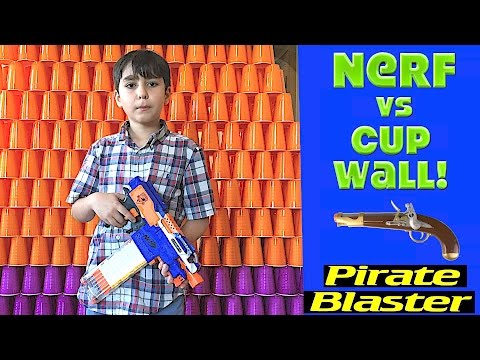 Nerf War: First Person Shooter Cup Battle w/ Pirate Blaster Opening!