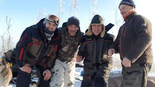 Рыбалка на таёжном озере зимой Большие щуки на жерлицы