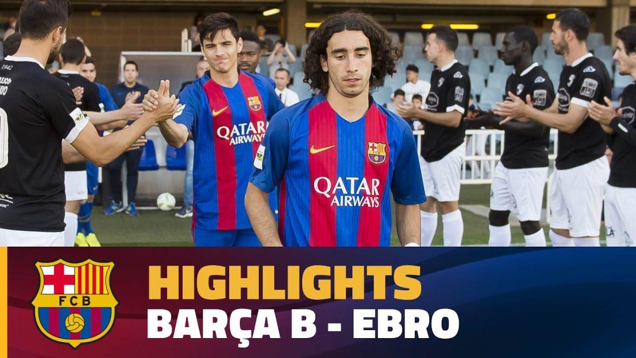 super popular 526c2 6e4bd [HIGHLIGHTS] FUTBOL (2AB): FC Barcelona B – Ebro (3-0)