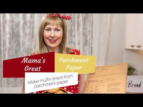 How to make muffin liners from parchment paper
