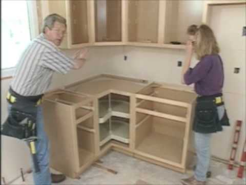 Home Time: Kitchen cabinet install 1/2 - YouTube on installing wall cabinets, installing corner cabinets, install crown molding kitchen cabinets, corner to install kitchen cabinets, install toe kick cabinets, how design kitchen cabinets, applying crown molding to cabinets,
