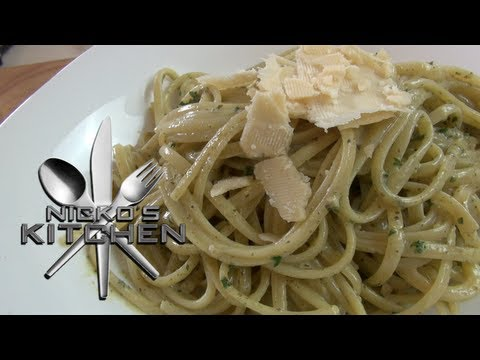 EASY CREAMY PESTO PASTA - Nicko's Kitchen