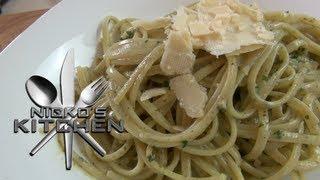 Easy Creamy Pesto Pasta - Nicko's Kitchen