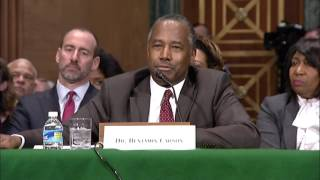 Senator Elizabeth Warren confirmation hearing with Dr. Ben Carson