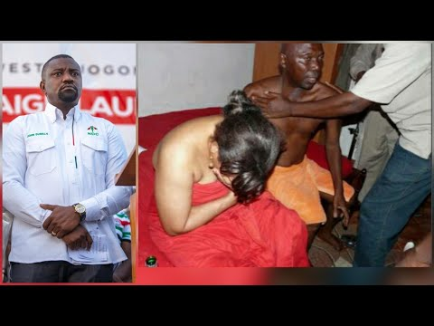 MP càught with S!dɛChick as John Dumelo Shares 4000 Laptops..