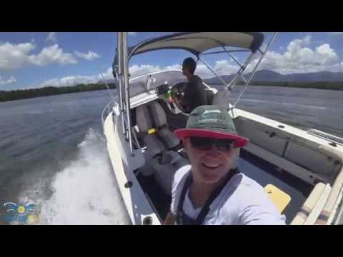 Sony FDR X3000 4k Action Cam Cairns Trinity Inlet Boat Run